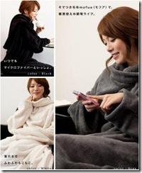 着る毛布のおすすめ☆mofuaで節電中~
