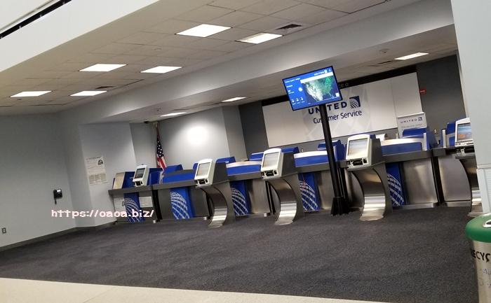 ユナイテッド航空のチェックインやチケット