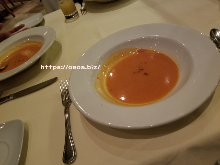 marcopolo フルコースのディナー