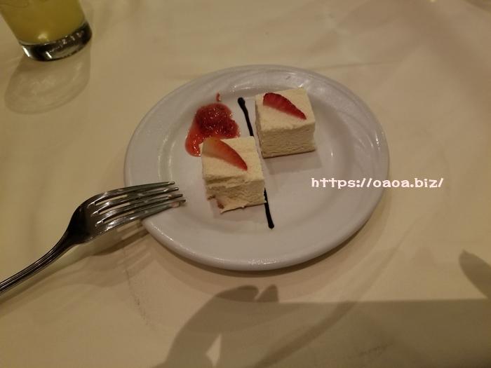 フルコースのデザート